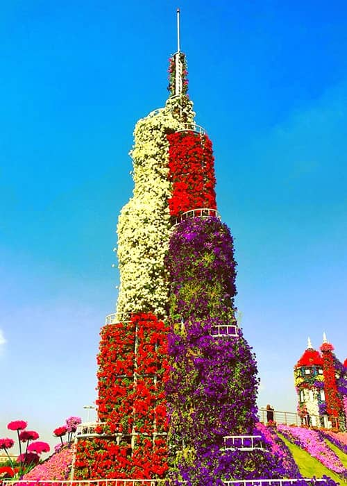 The Burj Khalifa Tower was fist introduced at the Dubai Miracle Garden in 2014.