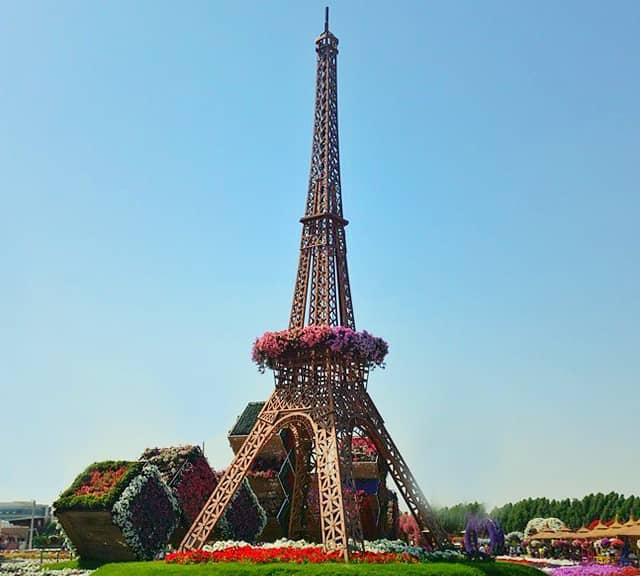 Eiffel Tower at Dubai Miracle Garden