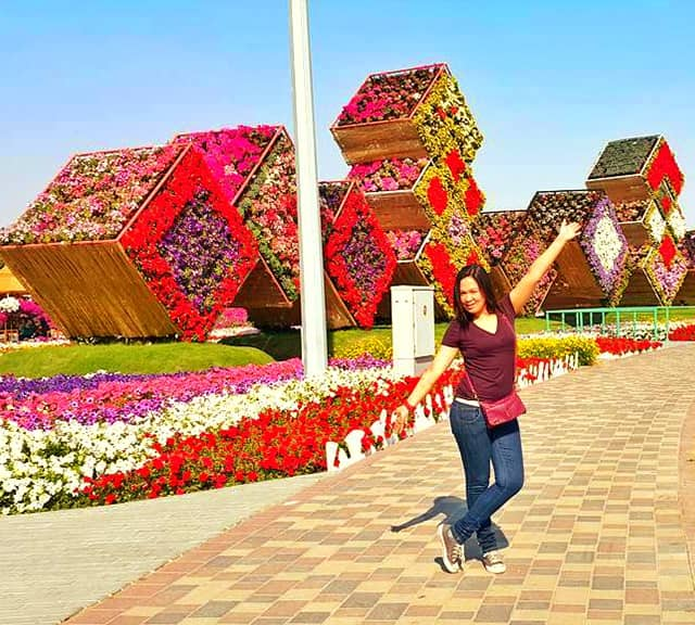 Floral Boxes structure at the Dubai Miracle Garden
