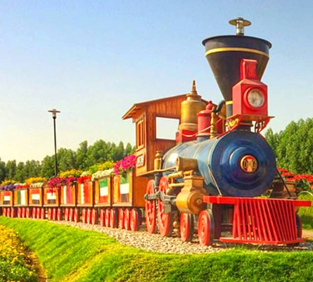 Floral Train at the Dubai Miracle Garden