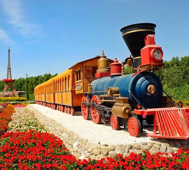 Structure of Floral Train at the Dubai Miracle Garden