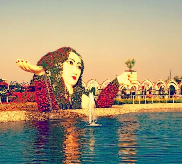 Introduction of Flower Lady Sculpture at the Dubai Miracle Garden.