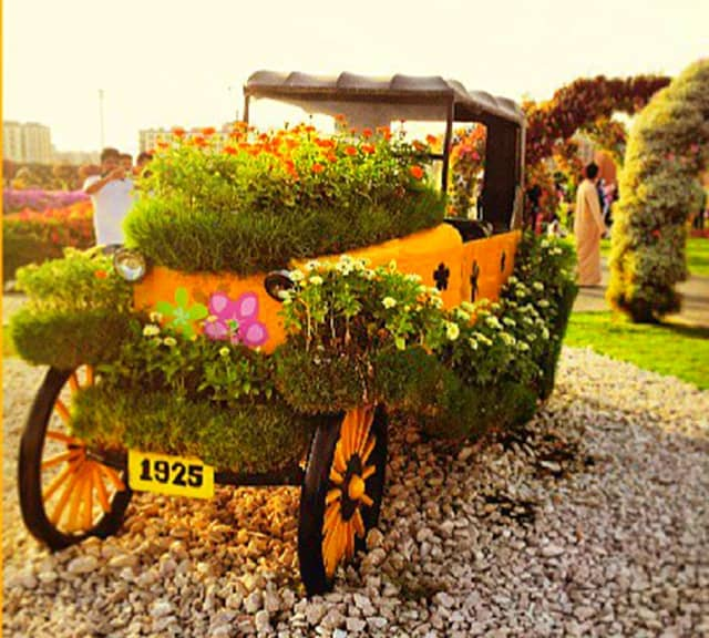 Ford's Model-T Car at the Dubai Miracle Garden.