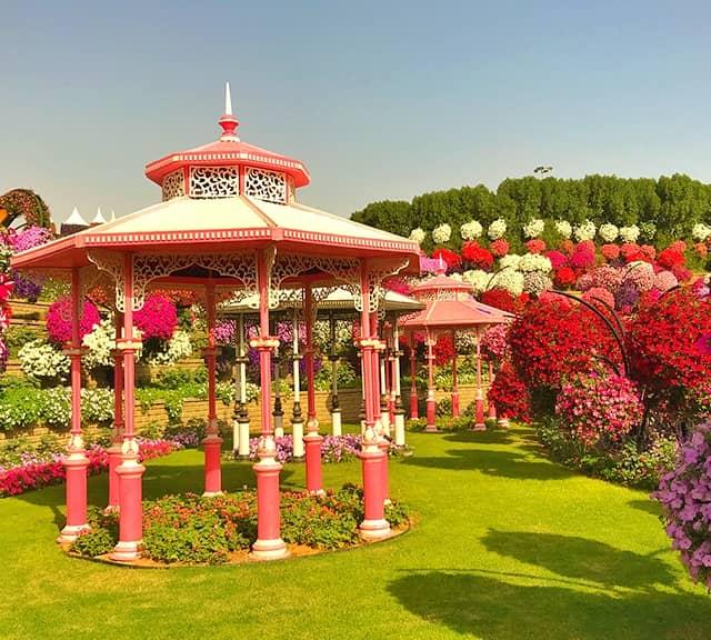 gazebos at dubai miracle garden