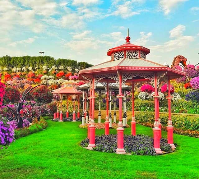Structure of Gazebos at the Dubai Miracle Garden.