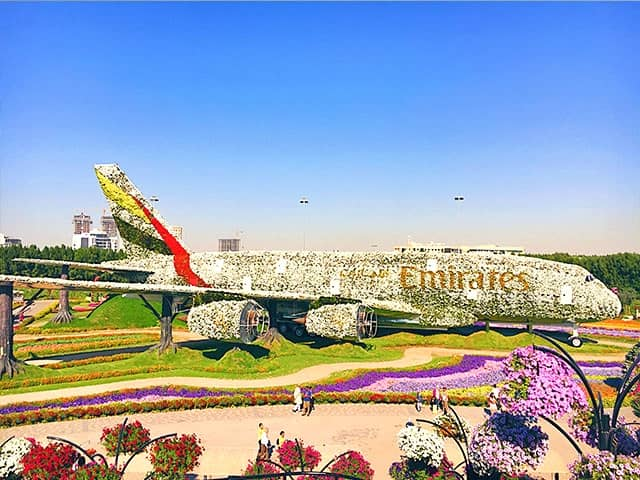 Dubai Miracle Garden Guinness Book of World Records Airbus a380