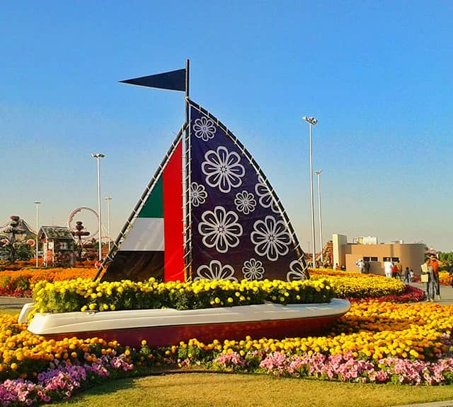 Dubai Miracle Garden was inaugurated in 2013