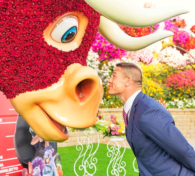 John Cena visited the garden to promote its animated movie Ferdinand.