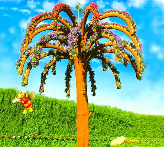 Palm Trees floral theme at the Dubai Miracle Garden.