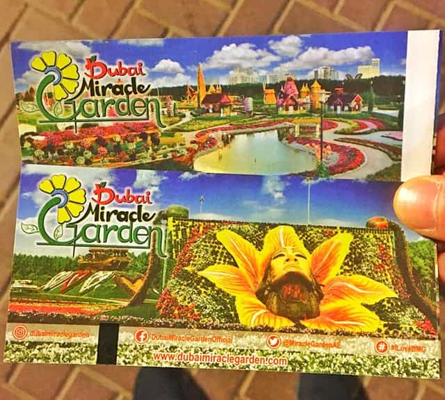 Don't purchase online tickets of Dubai Miracle Garden.