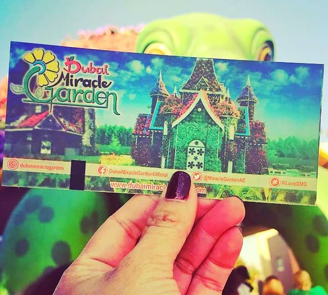 Ticket prices of the Dubai Miracle Garden over the seasons have changed.