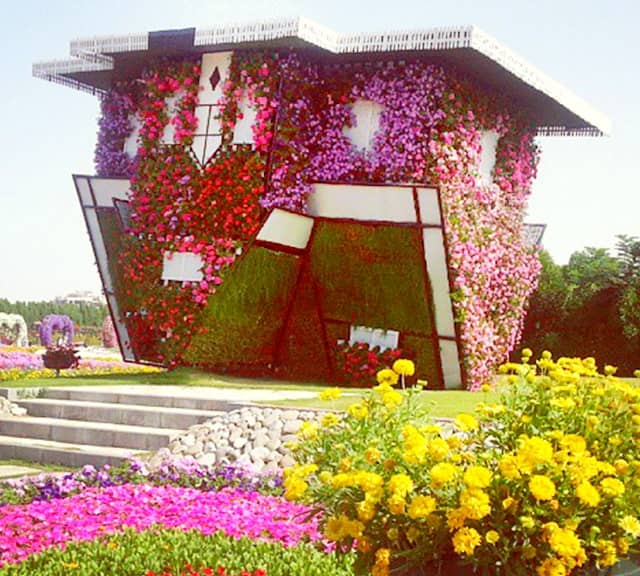 Upside Down Floral House Dubai Miracle Garden