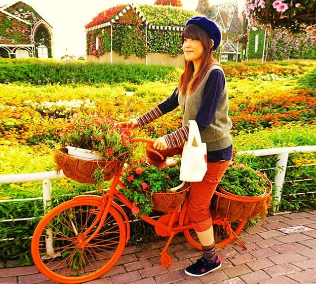 Urban Bicycles popular among women visitors at the Dubai Miracle Garden